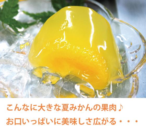 こんなに大きな夏みかんの果肉♪お口いっぱいに美味しさ広がる・・・