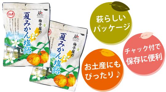 夏みかん塩飴(なつみかんしおあめ)パッケージ