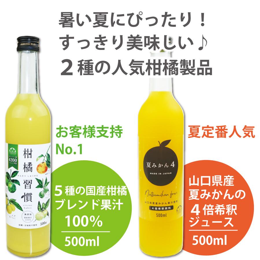 スッキリとした美味しさ凝縮。2種の人気柑橘製品。