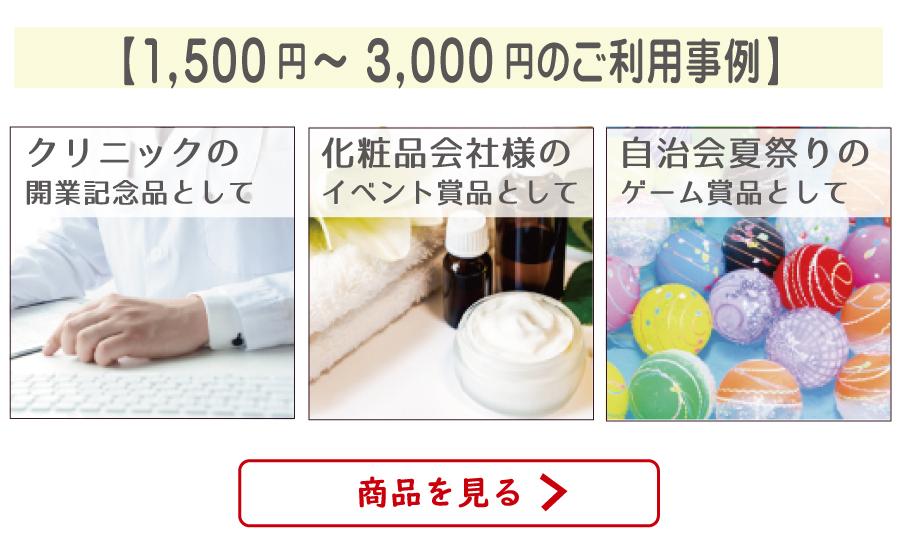 ご利用事例〜価格帯別1500円〜