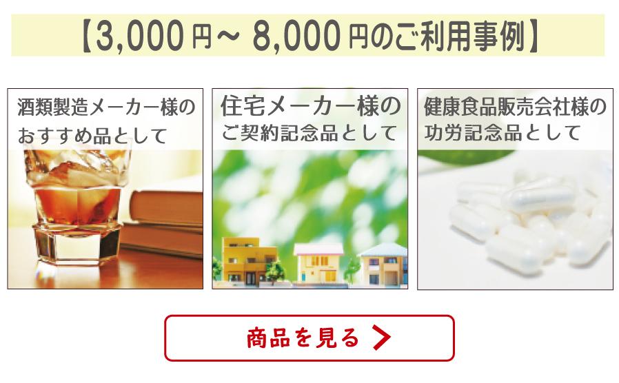 ご利用事例〜価格帯別3000円〜
