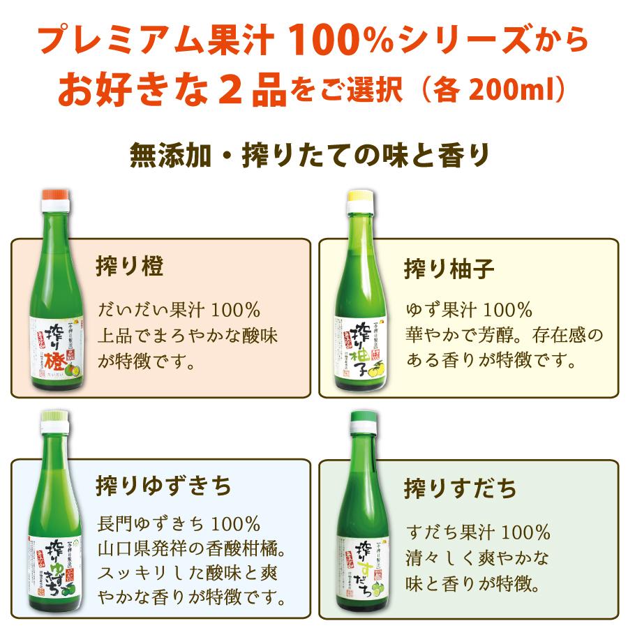 プレミアム果汁100%シリーズから2品をご選択ください